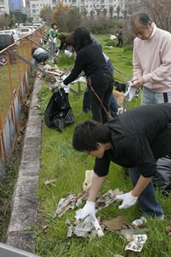 第3回犬一揆野外活動ゴミ拾い